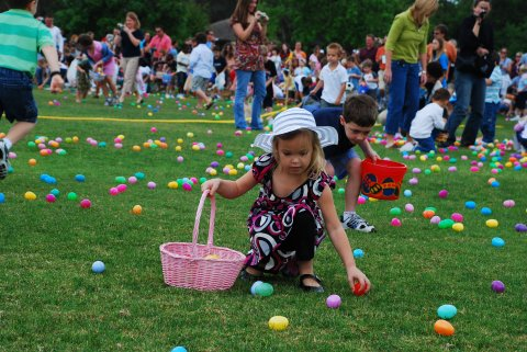 I love the hunts for the plastic eggs with prizes in them!