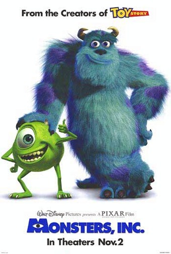 """Probably my favorite of the Pixar movies. Whenever it's on TV I'm like """"OMG! MONSTER'S INC IS ON!!!"""""""