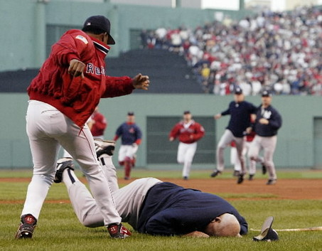 "I'm not a Red Sox fan, but that fight where Don ""The Gerbil"" Zimmer got knocked on the ground was hilarious"