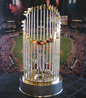 The trophy's in Yankee Stadium...Where it belongs!