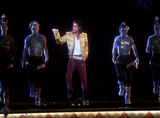 Author's Note: You'd be surprised how many pics there are with Michael Jackson AND Tupac's holograms together...