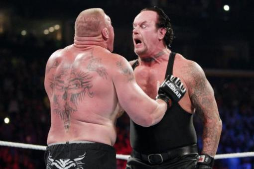 And Undertaker made some weird faces.